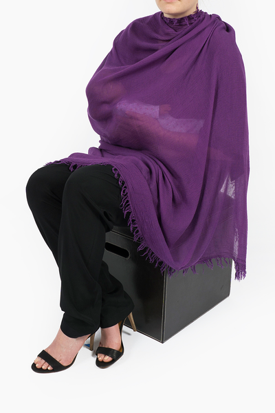 Breastfeeding Nursing Latch Cover in Eggplant
