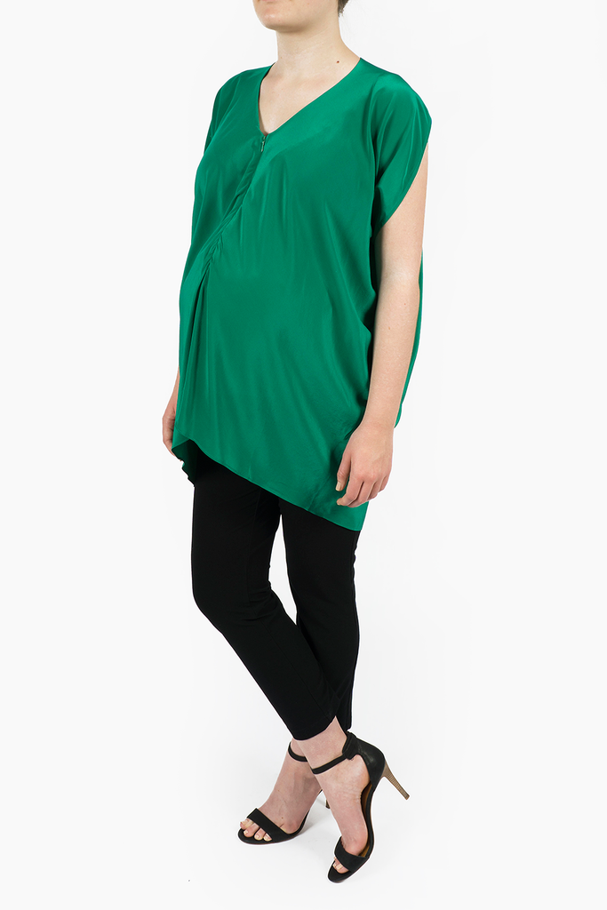 Maternity Breastfeeding Nursing Top in Emerald Green