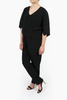 Maternity Breastfeeding Nursing Jumpsuit in Essential Black