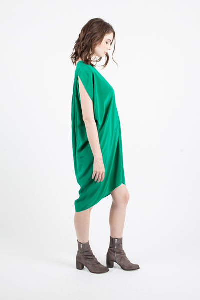 Maternity Breastfeeding Nursing Dress in Emerald Green