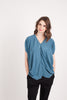 Maternity Breastfeeding Nursing Top in Slate Blue