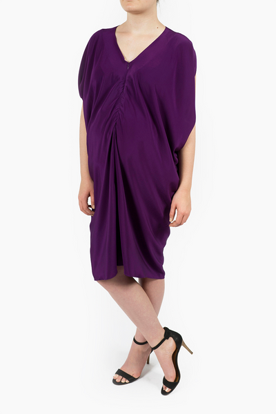 Maternity Breastfeeding Nursing Dress in Royal Purple