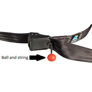Ball & String for cam buckle on tow systems