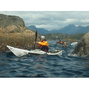rock garden kayaking in Alaska on Kayak Academy's Exposed Coast Kayak Expedition Training