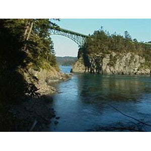 Deception Pass is the best place for Tidal Rapids Kayak Training