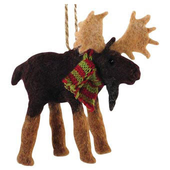 Felt Ornaments - Moose, Loon