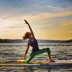 SUP yoga class on Lake Samammish, Issaquah, WA