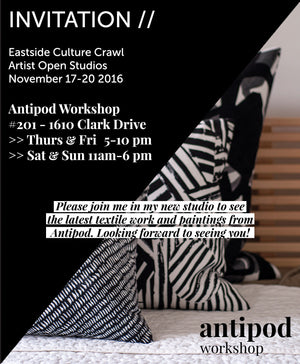 OPEN STUDIO | EASTSIDE CULTURE CRAWL NOV 17-20