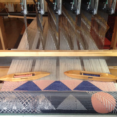Antipod Workshop | Jacquard Weaving on the loom