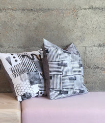 Block printed linen pillows by ANTIPOD Workshop