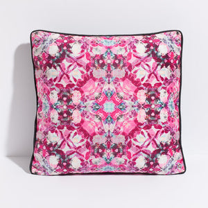 Printed pillow: hot pink digital floral design