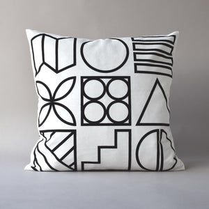 "BAUHAUS TAPA | 20"" sq pillow from the Lexicon Collection by Antipod Workshop"