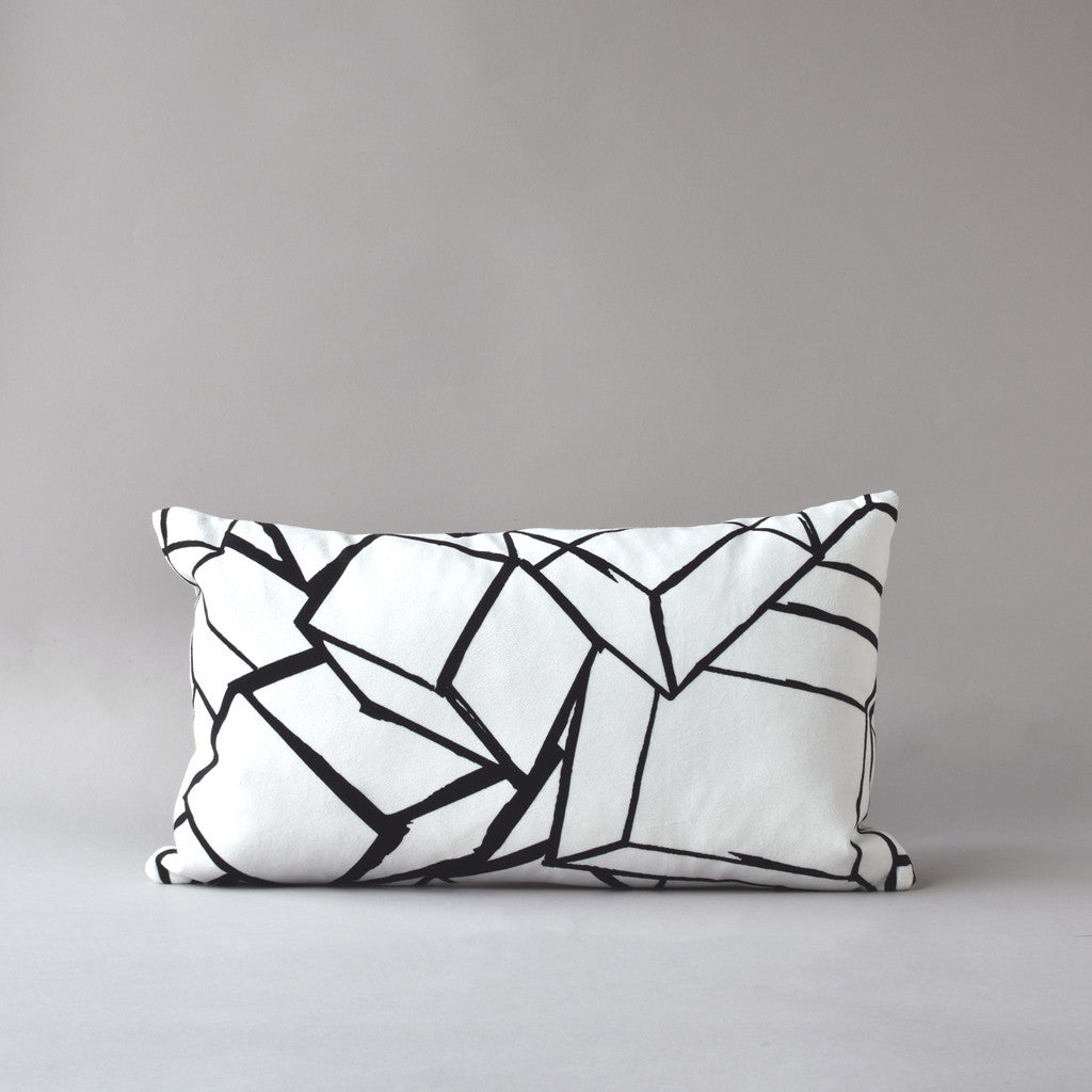 TUMBLING BLOCKS | 12x20 in pillow from the LEXICON collection by ANTIPOD