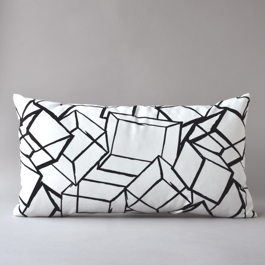 TUMBLING BLOCKS | 14 X 26 in pillow from the LEXICON collection by ANTIPOD