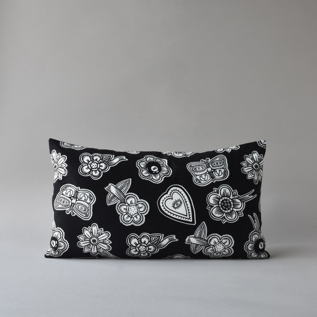 HOODOO by Jan Wade x Antipod Workshop | 12x20 inch printed pillow in black