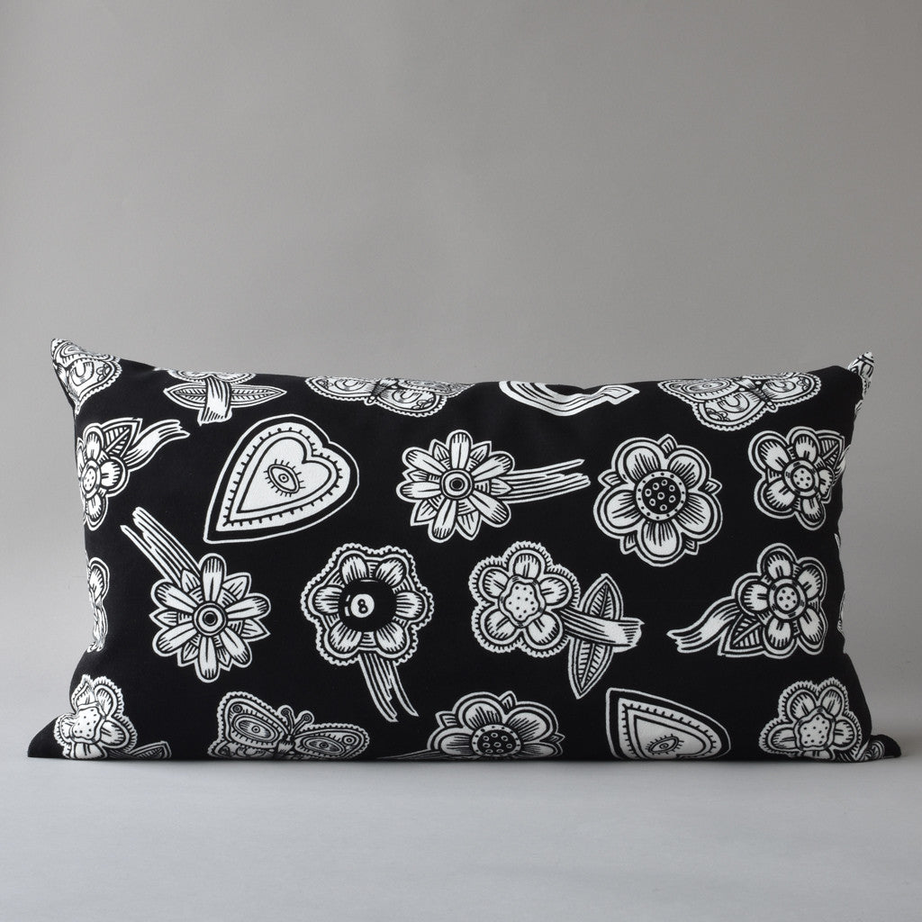 HOODOO by Jan Wade x Antipod Workshop | 14x25 inch printed pillow in black