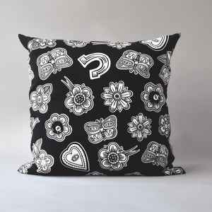 HOODOO by Jan Wade x Antipod Workshop | 20 inch printed pillow in black