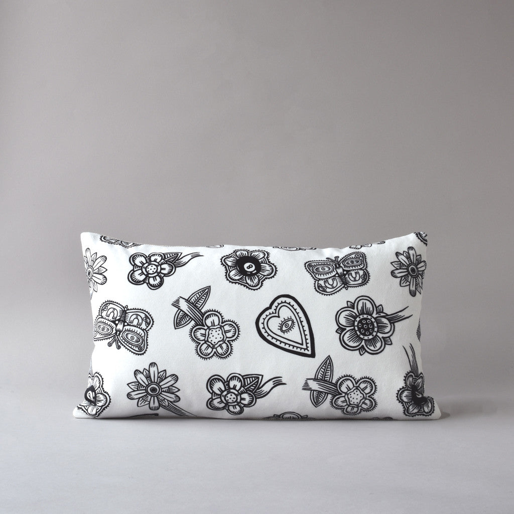 Hoodoo White | 12 x 20 in pillow from the LEXICON collection by ANTIPOD