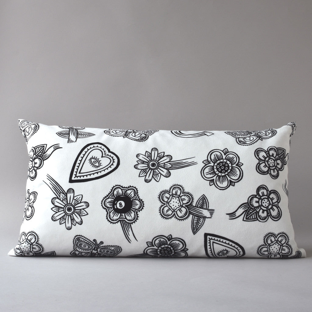 Hoodoo White | 12 x 26 inch pillow from the LEXICON collection by ANTIPOD