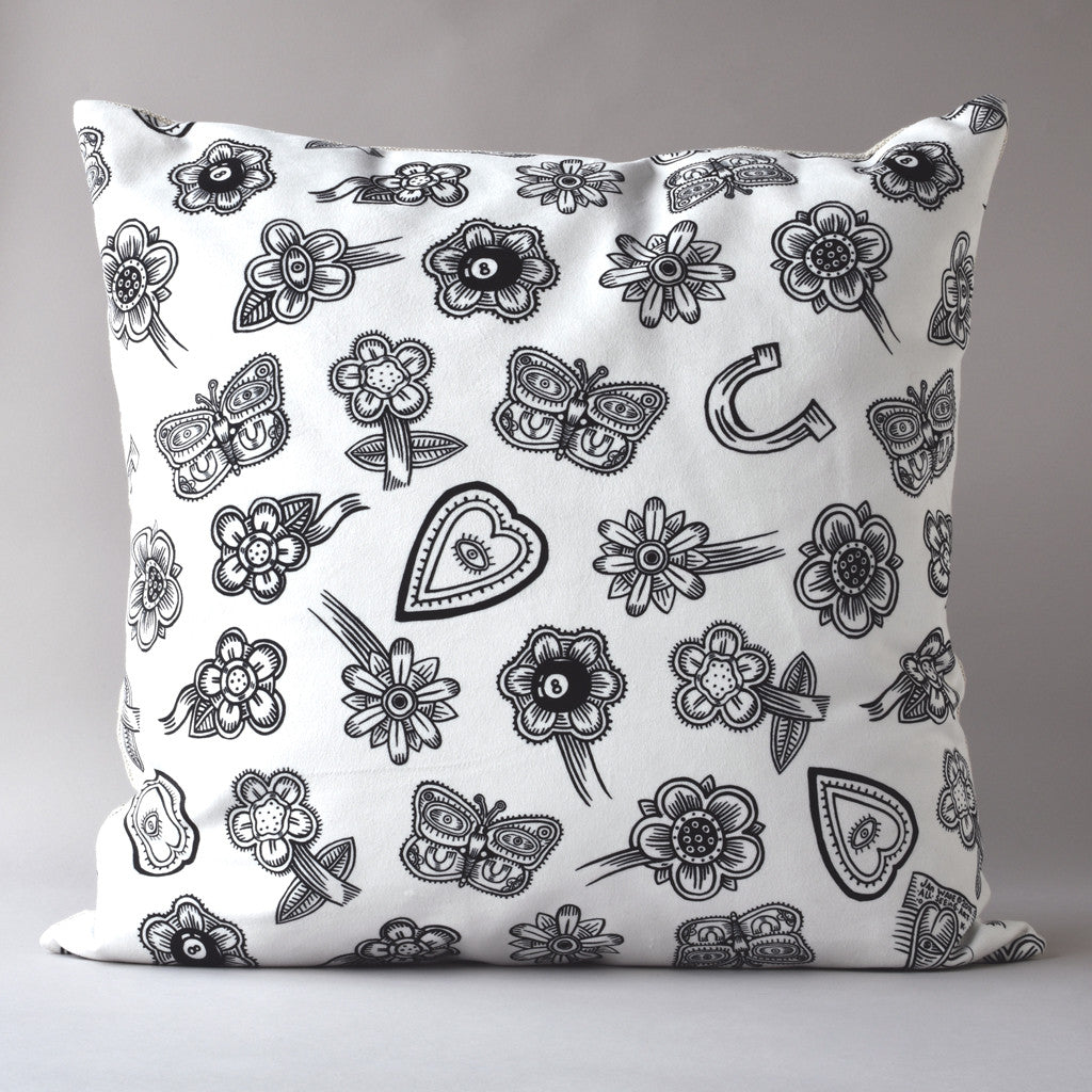 Hoodoo White | 20 inch square pillow from the LEXICON collection by ANTIPOD