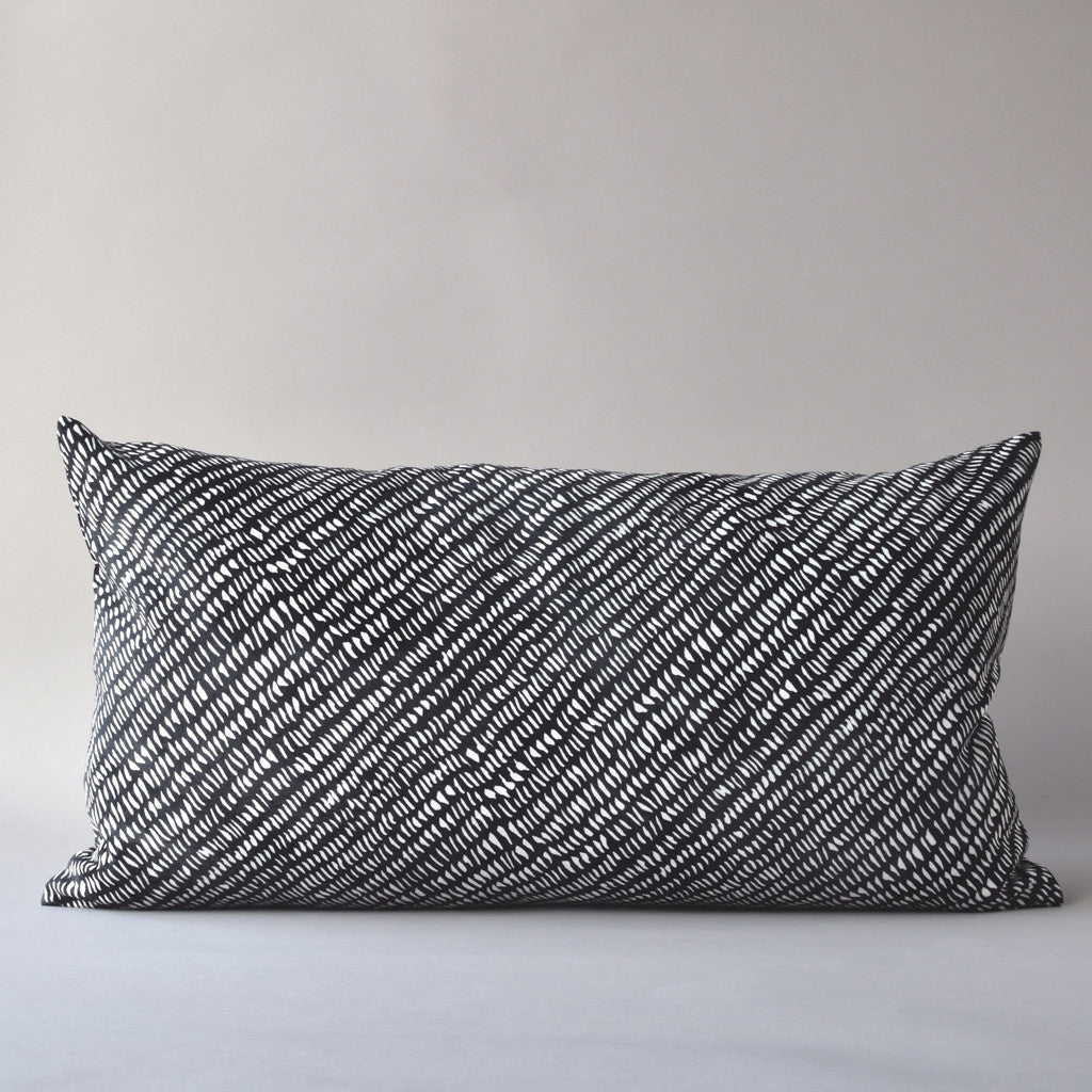 "RAIN | 14x25"" pillow from the Lexicon Collection by Antipod Workshop"