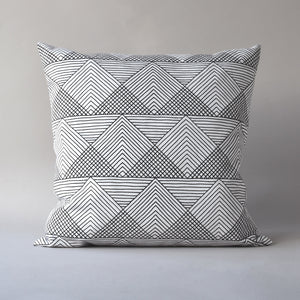 SOL | 26 in square pillow with linen back from the LEXICON collection by ANTIPOD