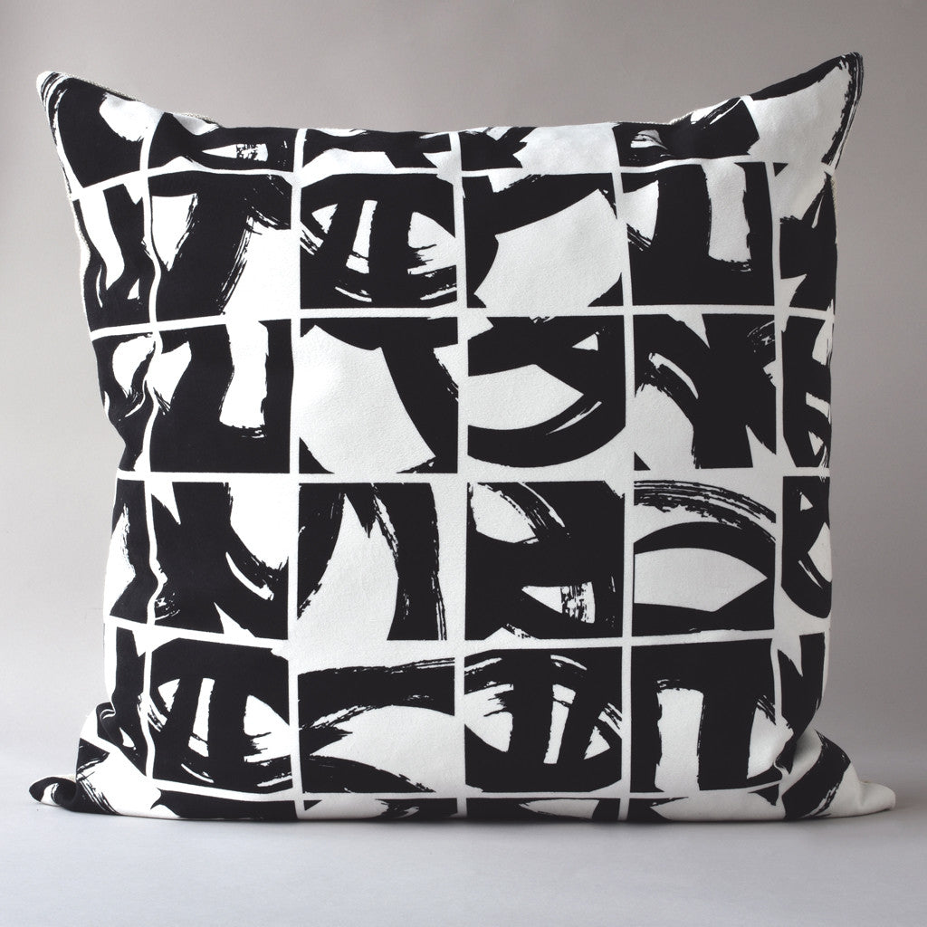 SUMI | 26 inch sq pillow from the LEXICON collection by ANTIPOD