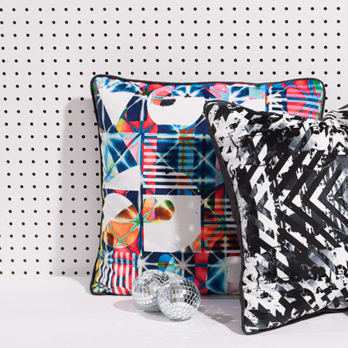 Printed pillow: Bauhaus Disco 1.0