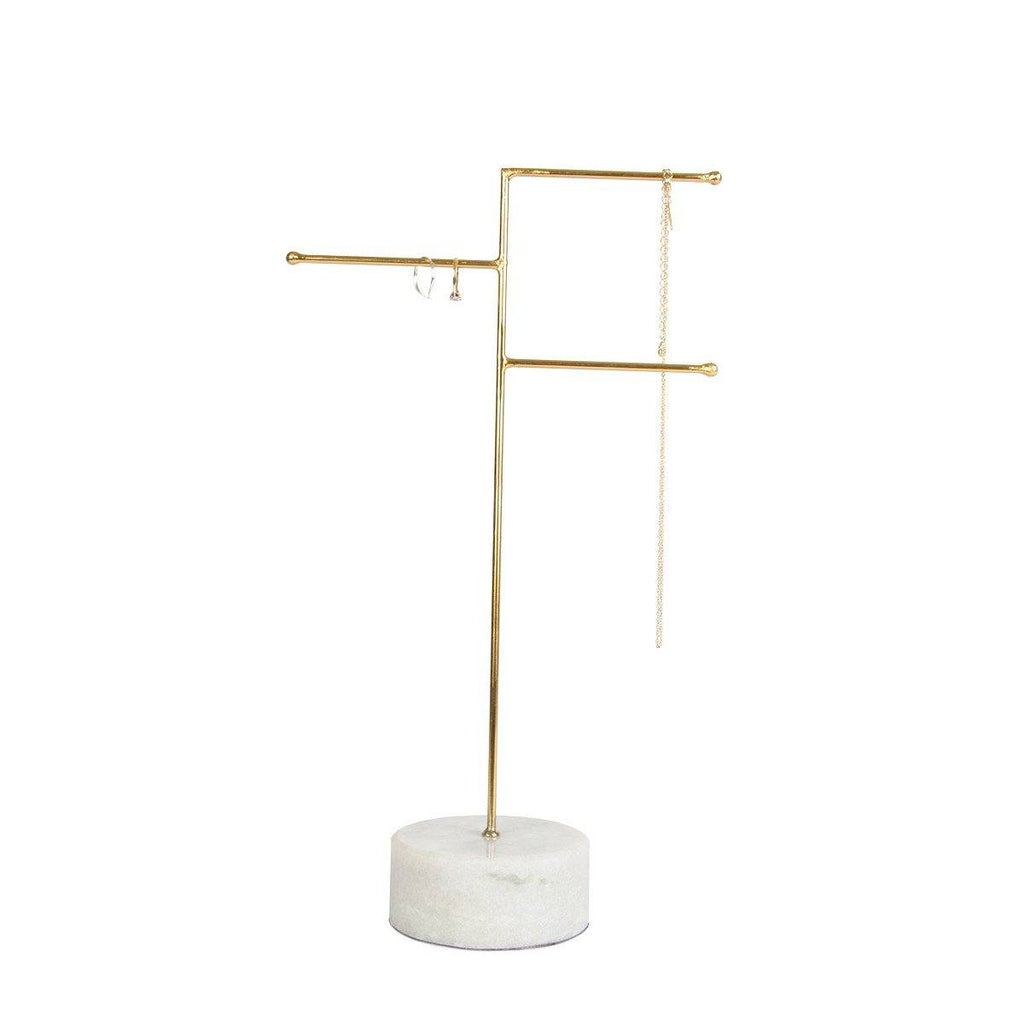 Marble & Brass Contemporary Chic Jewellery Stand Necklace Storage, gift for her