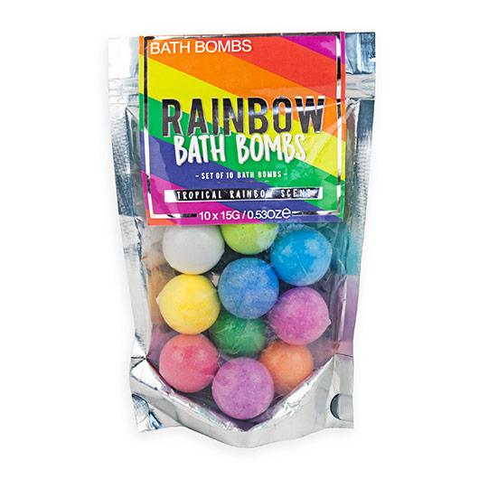 Rainbow Bath Bombs Toiletries Secret Halo