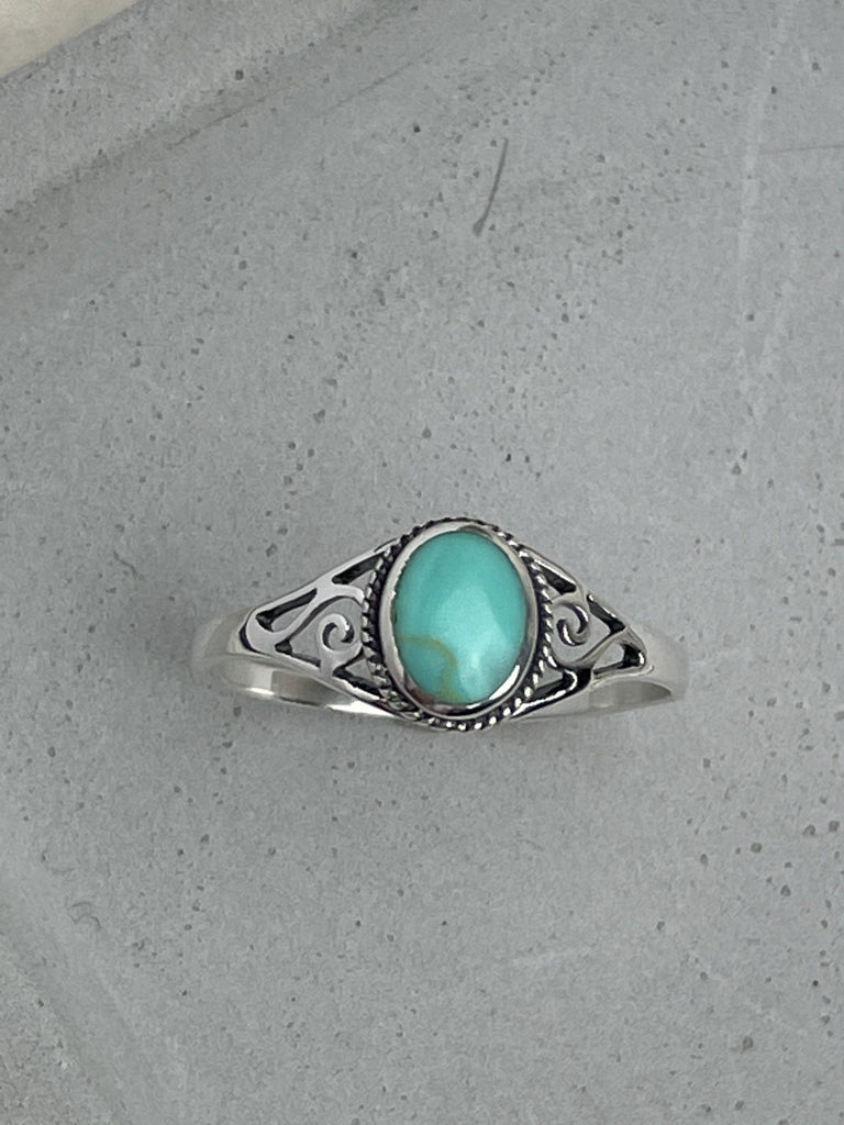 Silver Turquoise Ring Rings Secret Halo 58