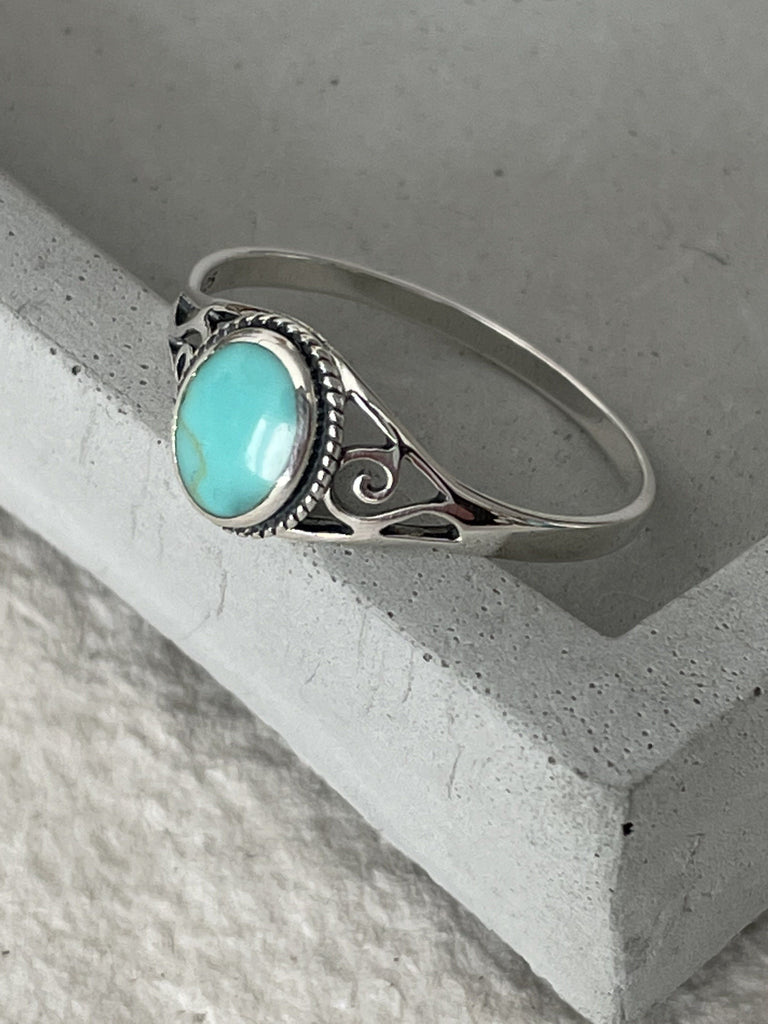 Silver Turquoise Ring Rings Secret Halo 60