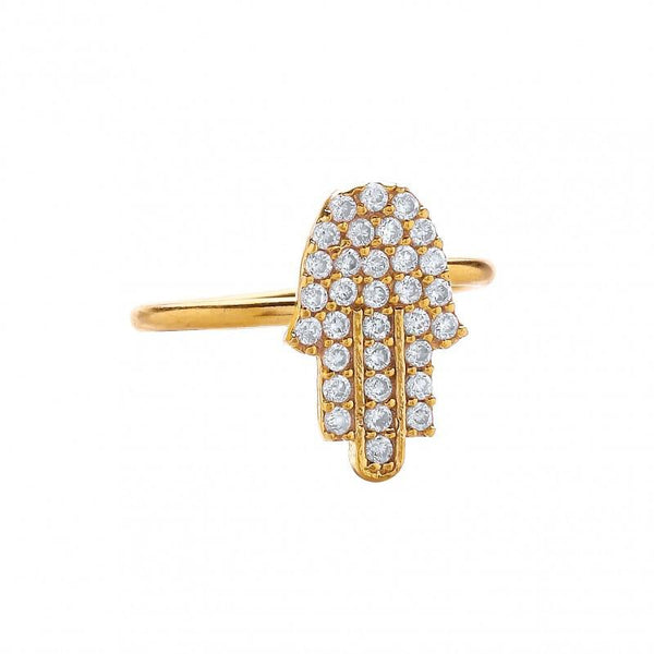 Secret Halo Ottoman Hands stockist | Simple Hand of Fatima ring | cubic zirconia