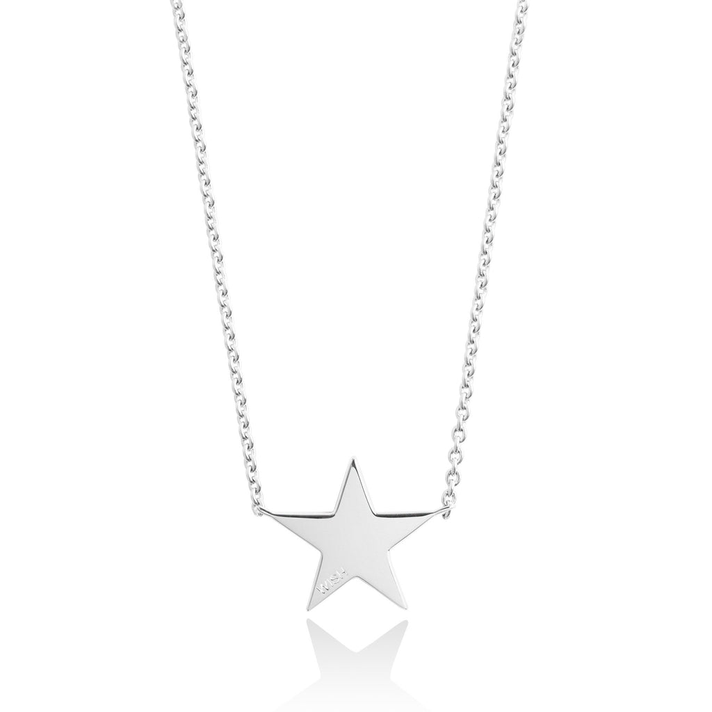 Secret Halo - Fine Jewellery - Sterling Silver -Necklaces - Forever Joma - The Line Necklace - star wish FJ021