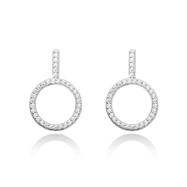 Secret Halo - Forever Joma - Luxury Jewellery - The Only Collection - Sterling silver earrings - FJ032 - close up