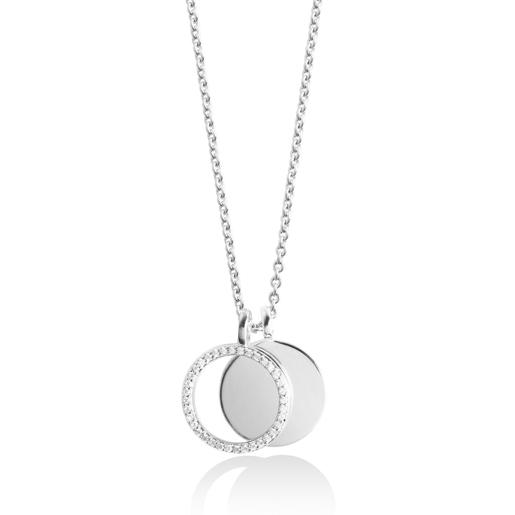 Secret Halo - Forever Joma - Luxury Jewellery - Sterling silver necklace - FJ031 - close up