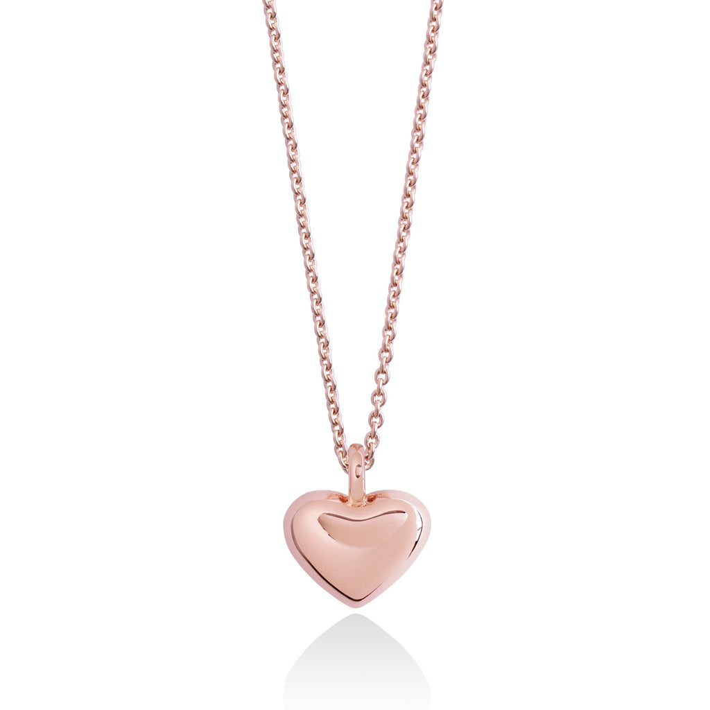 Fine Jewellery - Rose gold plated sterling silver - Forever Joma - Secret Halo - The True Necklace - heart pendant