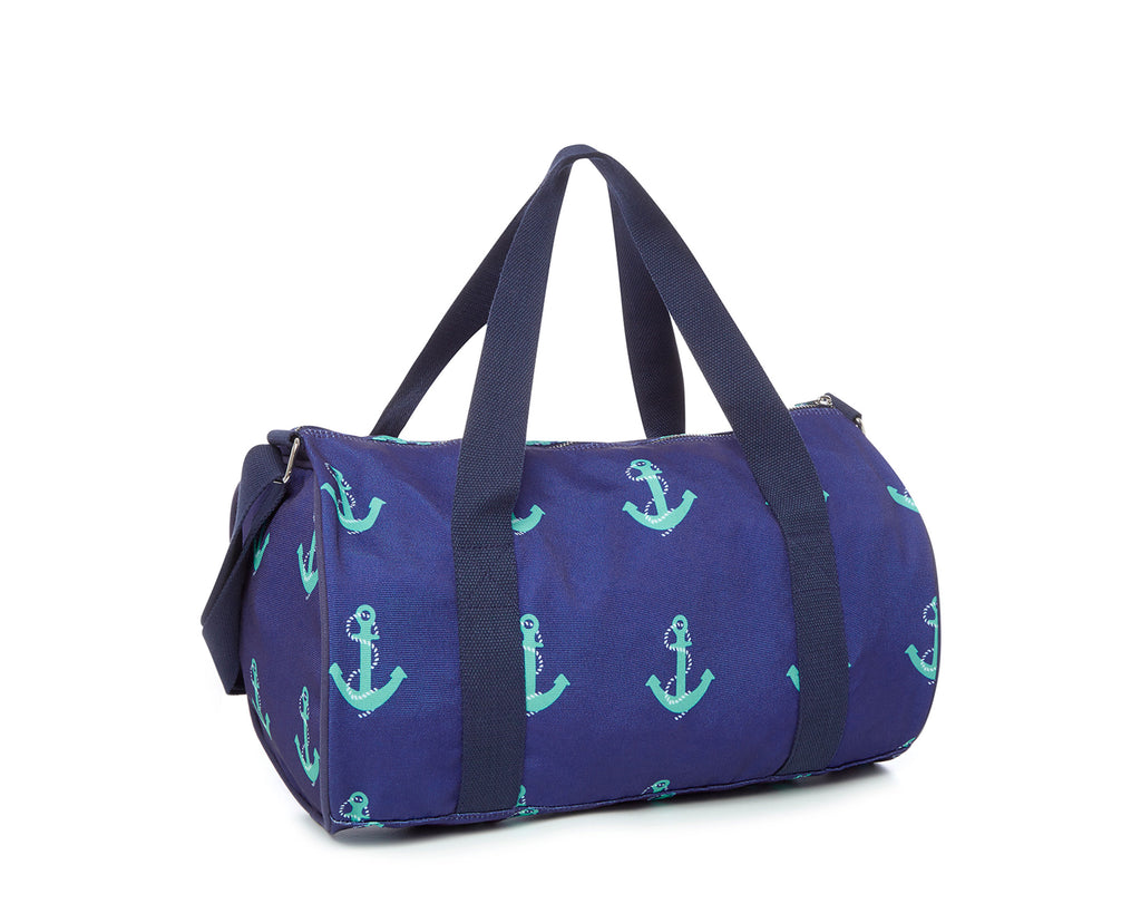duskiI Girl Abby Duffle Bag | Navy Anchor