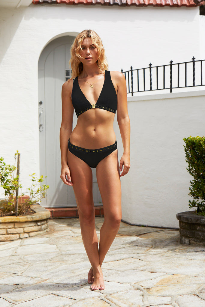 Bay Breeze Bikini Top | Ebony