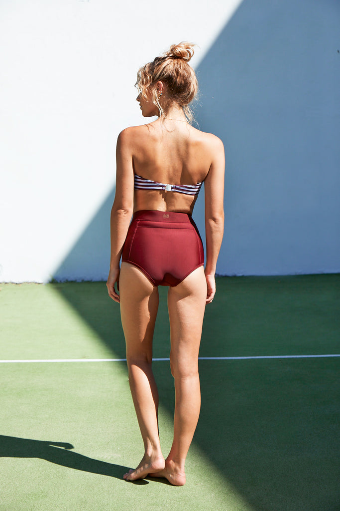 Grace High Waisted Pant | Burgundy