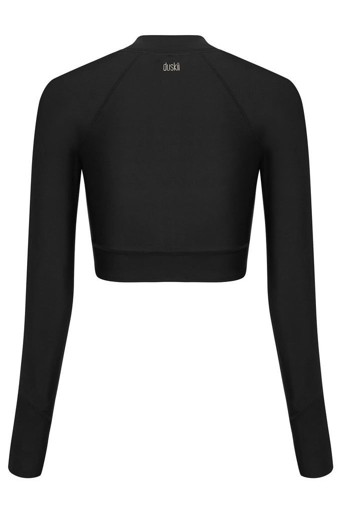 Crop Rash Top | Black
