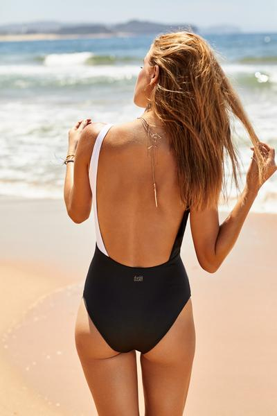 Salsa One Piece | Ebony & White