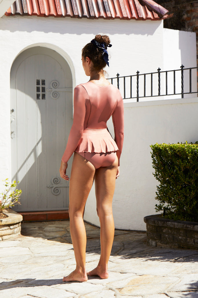 Elle Long Sleeve One Piece | Copper