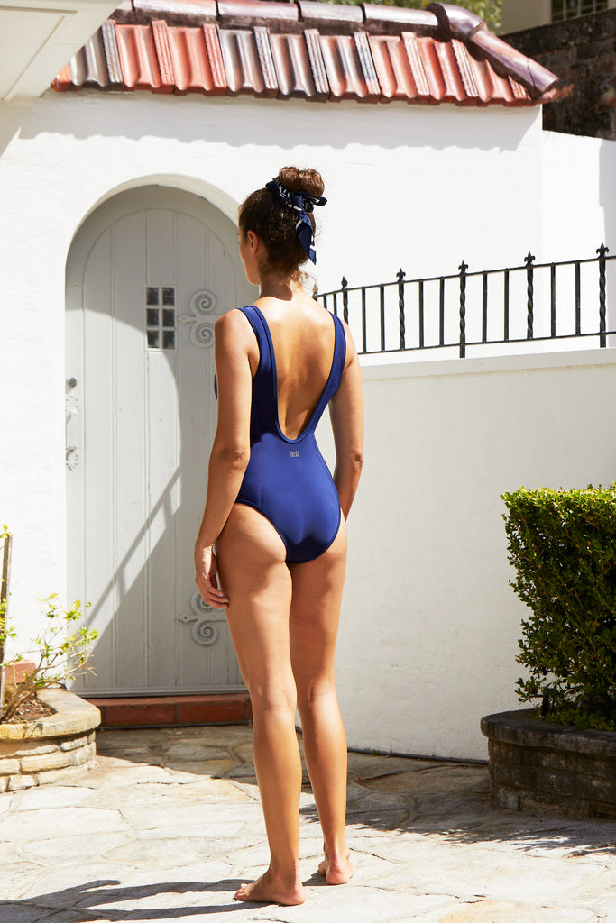 Miranda Zip One Piece | Blueberry