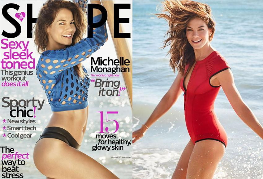 Michelle Monaghan | @realmonaghan | Shape Magazine | March 2017