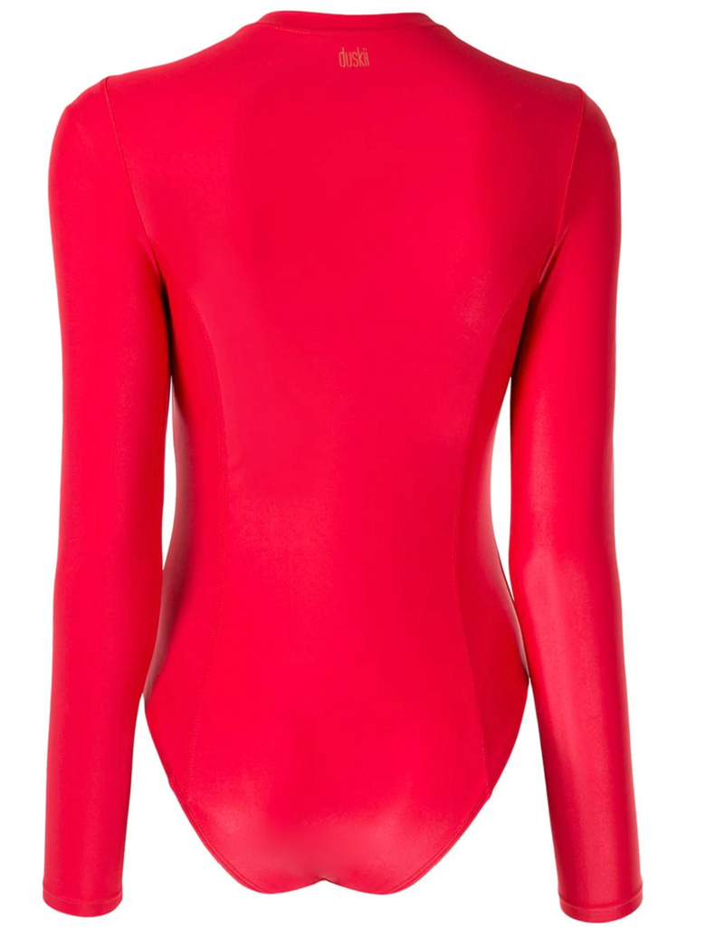 Cerise Sleek Long Sleeve One Piece | Cherry