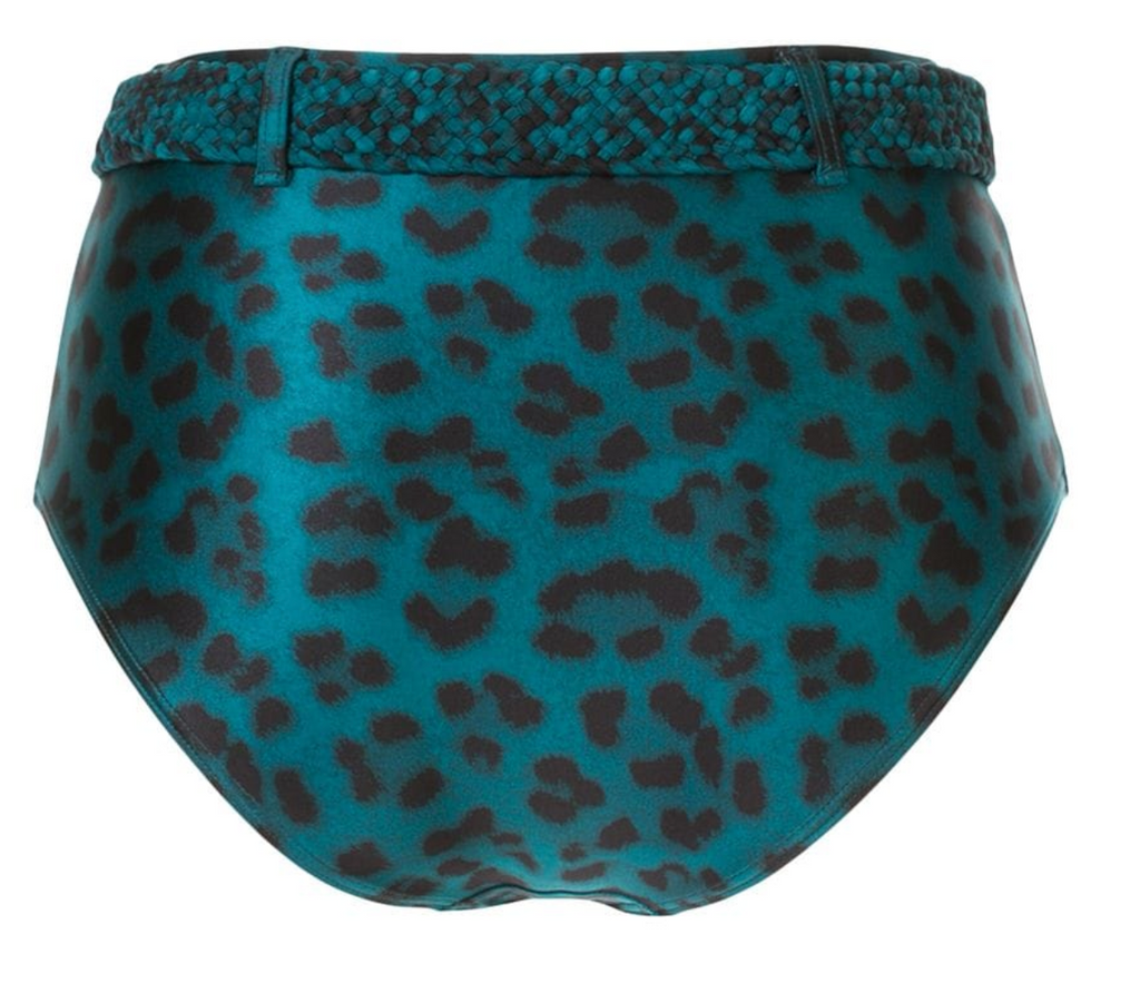 Océane Belted High Waist Bottom | Leopard Teal