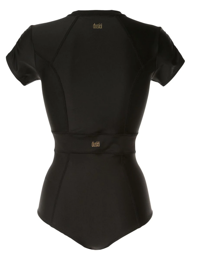 Océane Short Cap Sleeve Suit | Black