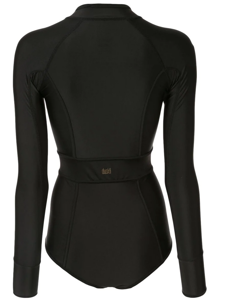 Océane Long Sleeve Suit | Black