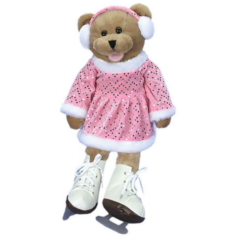 crystal singing ice skater bear g1121